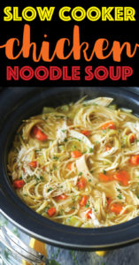 Slow Cooker Chicken Noodle Soup via Damn Delicious