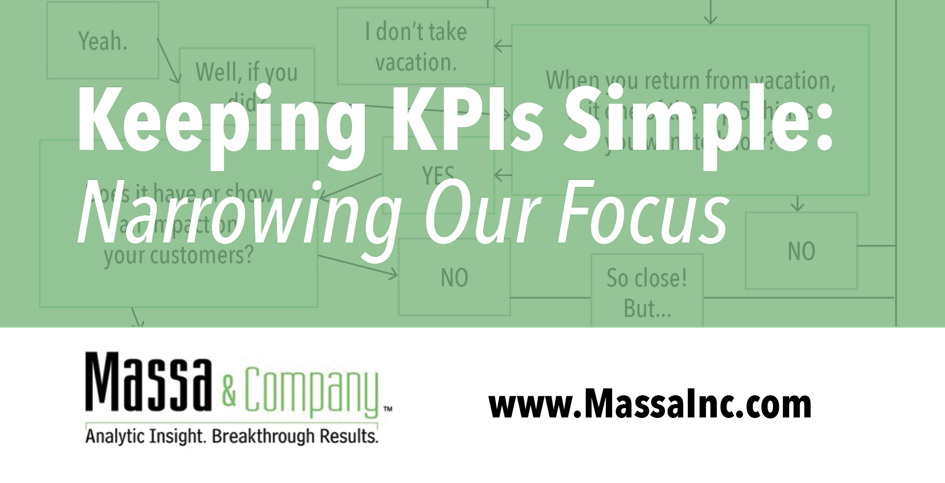 Keeping KPIs Simple: Narrowing Our Focus