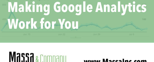 New Blog Post: Make Google Analytics Work for You
